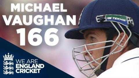 The 2005 Ashes: Michael Vaughan Hits Brilliant 166 at Old Trafford - Full Highlights