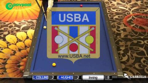 "1 • Lee COLLINS vs Eric HUGHES • 2017 USBA / Gabriels 3 Cushion ""B"""