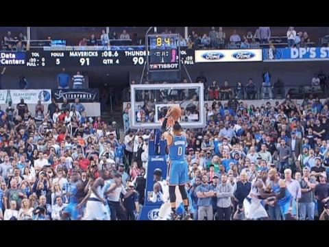 Russell Westbrook Hits Game-Winning Shot in Comeback vs. Mavericks! | March 27, 2017