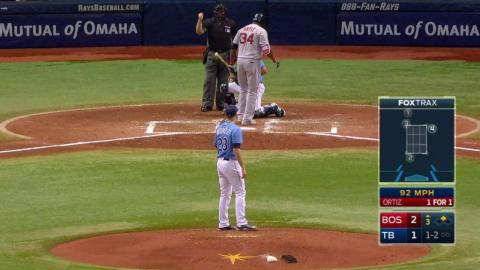 BOS@TB: Odorizzi retires Big Papi with a strikeout