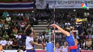 VolleyBall World Grand Prix 2014 Thailand Vs Serbia เซ็ทที่1