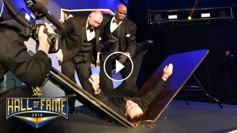 the dudley boyz put a stagehand through a table wwe hall of fame