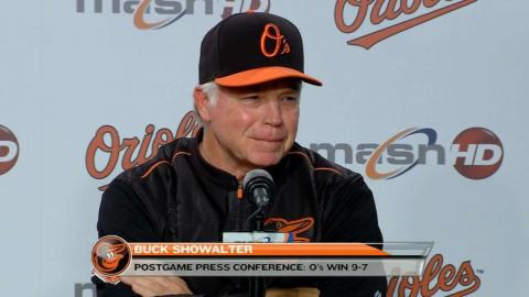 LAA@BAL: Showalter compares home runs to dunk contest