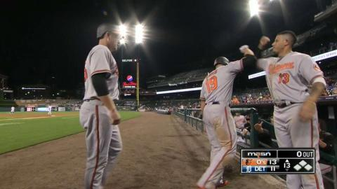 BAL@DET: O's pound four homers against Tigers