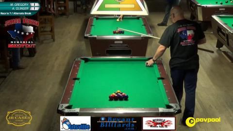 #1 - A. OLINGER vs M. GREGORY - Junior Norris 10-BALL • 2017