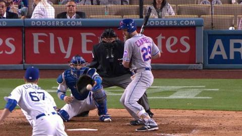NYM@LAD: Coleman strikes out Campbell looking