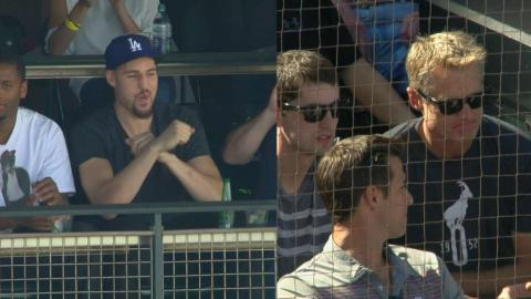 LAD@SF: Kerr, Thompson root for opposing teams