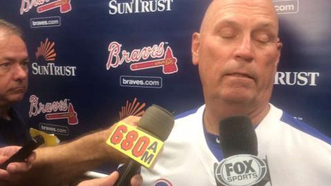 CIN@ATL: Snitker on the Braves' offensive struggles