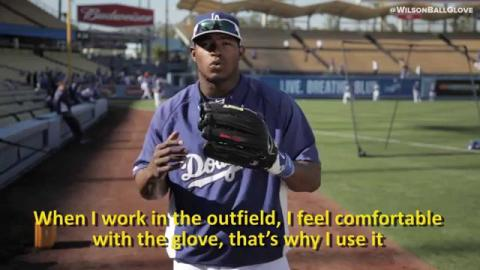Yasiel Puig and the new A2000 YP66 GM Glove