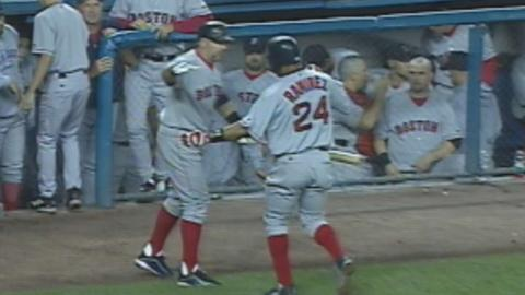 2003 ALCS Gm1: Manny belts a solo homer off Mussina