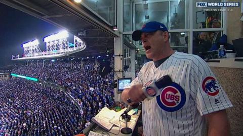 WS2016 Gm4: Vaughn sings at Wrigley during stretch