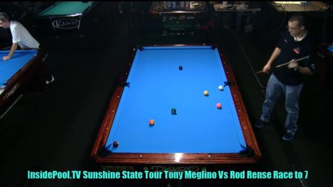 Tony Meglino VS  Rod Rense  2018 Sunshine State Tour at Park Avenue Billiards, FL