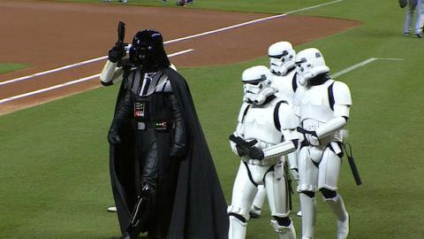 ATL@MIA: Star Wars Night celebrated at Marlins Park