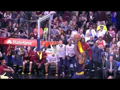 Kyrie Goes Off Glass For LeBron Alley-Oop!