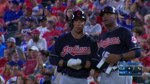 CLE@TEX: Brantley hits RBI single to extend lead