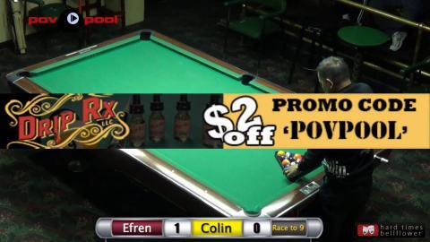 Efren Reyes vs Colin Angle - 8-Ball / PT 1