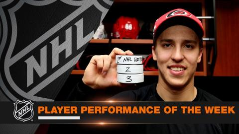 Teuvo Teravainen records a hat trick, collects 10 points in scorching hot week