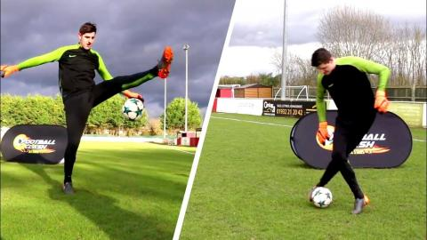 af4498faf5e83 COURTOIS DOES AMAZING FOOTBALL SKILLS YOU WON'T BELIEVE