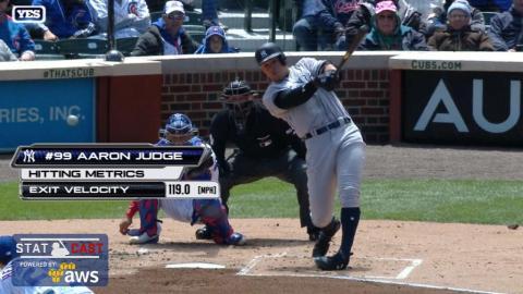 NYY@CHC: Statcast analyzes Judge's line-drive double