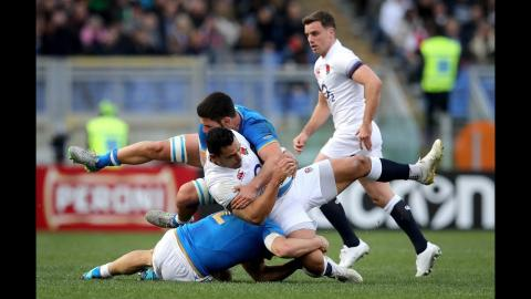 First-half highlights: Italy 10-17 England | NatWest 6 Nations