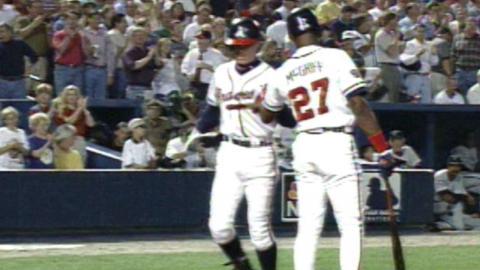 1997 NLCS Gm1: Chipper Jones homers off Brown in 3rd