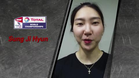 TOTAL BWF World Championships 2017 | Badminton 21 - 27 August | Sung Ji Hyun
