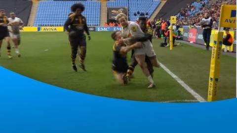 Christian Wade's try saving tackle
