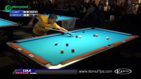 #16 • HOT SEAT •Dennis ORCOLLO vs John SCHMIDT • 2016 Cole Dickson 10 Ball