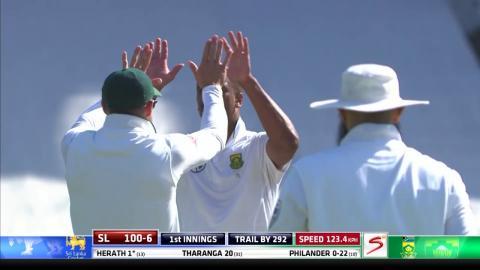 South Africa vs Sri Lanka - 2nd Test - Day 2 - Rangana Herath- Wicket