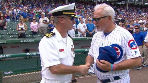 PHI@CHC: Messmer sings the national anthem at Wrigley