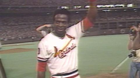CHC@STL: Lou Brock tallies 3,000th career hit