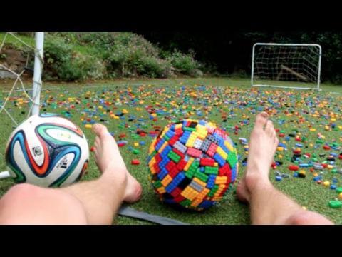 CRAZY BAREFOOT LEGO FOOTBALL!!