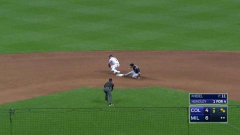 COL@MIL: Knebel nails down his first MLB save