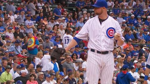CWS@CHC: Lester fans eight batters over seven frames