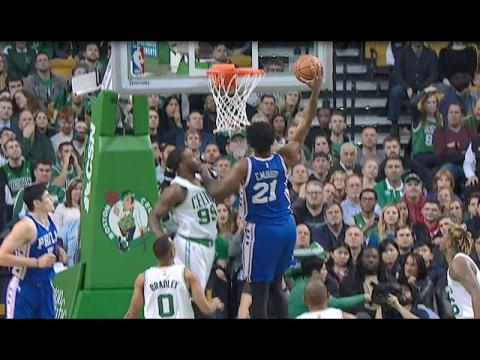 Joel Embiid Throws It DOWN Against the Celtics | 01.06.17