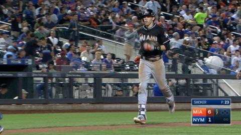 MIA@NYM: Yelich belts a three-run homer for third hit
