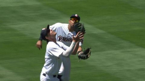 MIA@SD: Myers makes a great over-the-shoulder grab