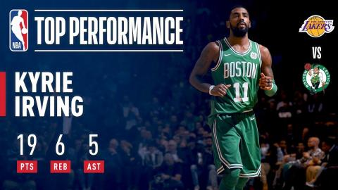Kyrie Irving (19/6/5) Propels Celtics to Victory vs. Lakers   November 8, 2017