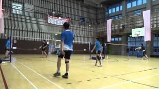 20150503FUMA Badminton Club MD北極熊+淳剛vs小慧+林老師XD
