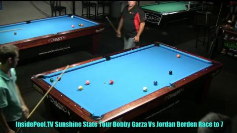Bobby Garza VS  Jordan Burden  2018 Sunshine State Tour at Park Avenue Billiards, FL