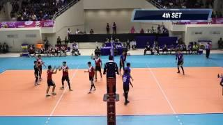 ASEAN University Games 2014 : Volleyball (M) Bronze Medal Match - Singapore Vs Malaysia