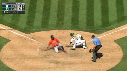 HOU@OAK: Correa plates Reddick with a sac fly