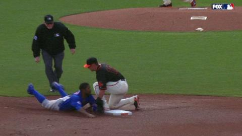 CHC@SF: Brown throws out Fowler stealing second