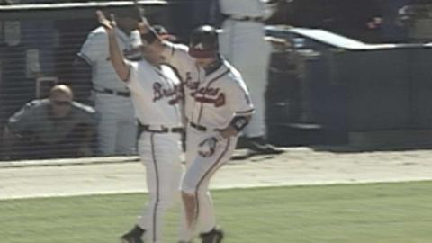 Chipper takes Leiter deep for 45th HR of '99