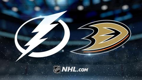 Lightning edge Ducks for sixth straight road win
