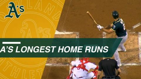 Statcast: Olson headlines A's longest homers of 2017