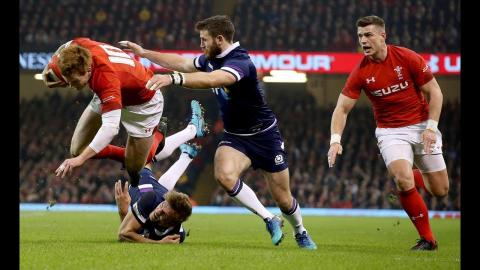 First half highlights: Wales 14-0 Scotland | NatWest 6 Nations