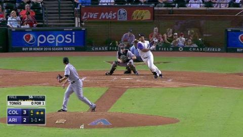 COL@ARI: Tomas evens the score with a groundout