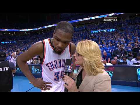 Kevin Durant Scores 37 To Power Thunder to Western Conference Finals