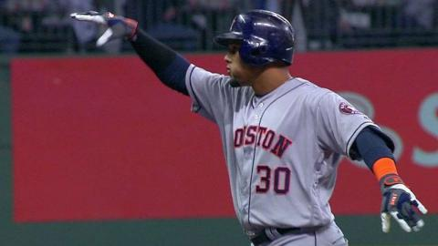 HOU@MIL: Gomez gets first hit in Milwaukee as Astro